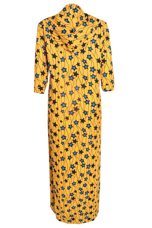 Load image into Gallery viewer, ankara print ,ankara kimono ,ankara jacket ,african fashion kimono ,made in nigeria ,desire1709 ,african print hooded kimono jacket ,yellow jacket, yellow kimono ,yellow outerwear
