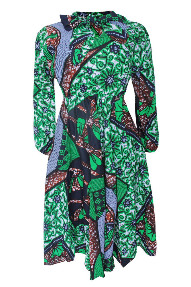 Load image into Gallery viewer, LABAKE AFRICAN PRINT ANKARA MIDI SKATER DRESS - DESIRE1709