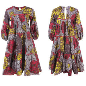 Load image into Gallery viewer, MIMI AFRICAN PRINT ANKARA SHIFT DRESS - DESIRE1709