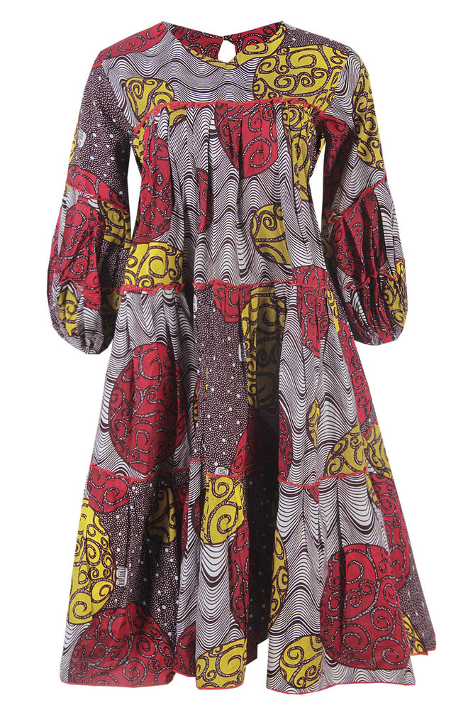 MIMI AFRICAN PRINT ANKARA SHIFT DRESS