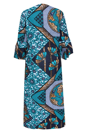 Load image into Gallery viewer, KIKE AFRICAN PRINT ANKARA BELL SLEEVE JACKET - DESIRE1709