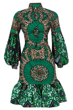 OMOTOLA AFRICAN PRINT ANKARA  SHIRT AND SKIRT SET