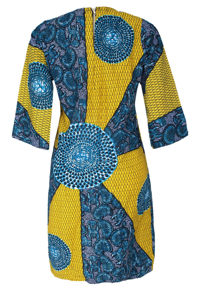 Load image into Gallery viewer, AFRICAN SPIRAL PRINT LILIAN DRESS