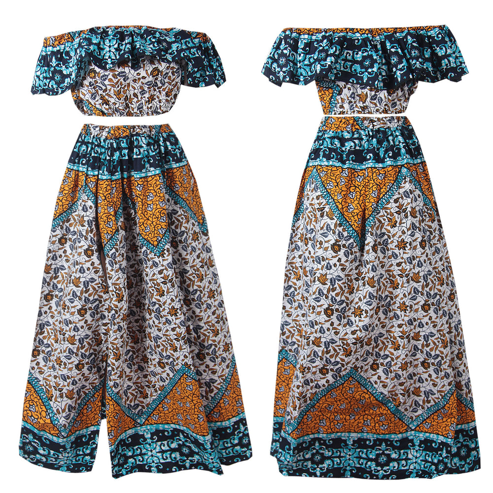 Load image into Gallery viewer, ZENDAYA AFRICAN PRINT ANKARA CO-ORD SET - DESIRE1709