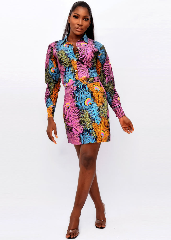Load image into Gallery viewer, GOKE AFRICAN PRINT SKIRT SET