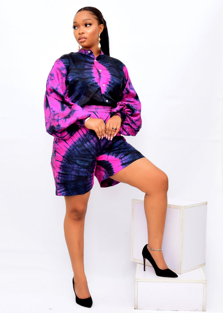 OLAMIDE AFRICAN PRINT SILK ADIRE CO-ORD SET ,desire1709 ,desire1709fashion ,africanfashion ,adire silk ,adire print ,adire two piece set ,made in africa fashion ,made in nigeria fashion