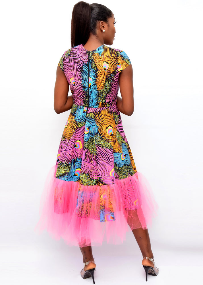 AFRICAN PRINT SKATER DRESS ,ANKARA DRESS ,AFRICAN FASHION ,ANKARA FASHION ,ANKARA DRESS ,DESIRE1709
