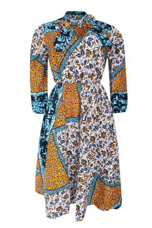 Load image into Gallery viewer, JOJO ANKARA BOW GOWN