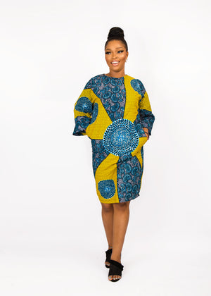 LILIAN AFRICAN PRINT ANKARA SHIFT DRESS