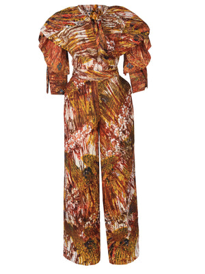 Load image into Gallery viewer, NANA AFRICAN PRINT ADIRE SET (RED) - DESIRE1709