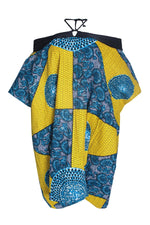 NABILA AFRICAN PRINT ANKARA OFF SHOULDER DRESS