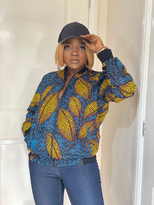 Load image into Gallery viewer, OYINDA AFRICAN PRINT BOMBER JACKET - DESIRE1709
