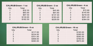 CALIRUB Green Topical Pain Relief Dprice