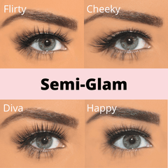 semi glam lashes