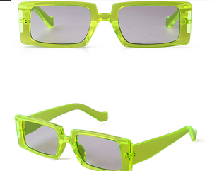 Carson's Cool Retro Rectangle Sunglasses UV Protected
