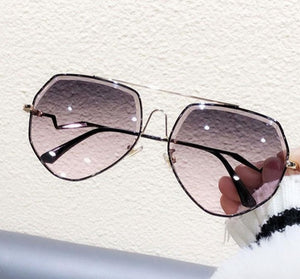 London's Rhinestone Aviator Sunglasses UV Protected