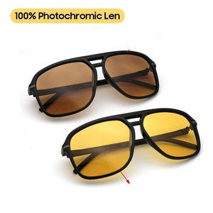 Miles Photochromic Color Change Aviator Sunglasses