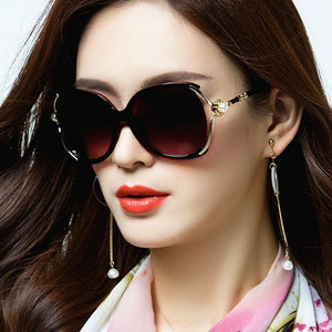 Michelle Polarized Sunglass  (Mother of Pearl)