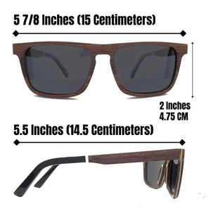 Bamboo with Dark Lenses - (55mm Lenses) Size Large - southernmostshades.com