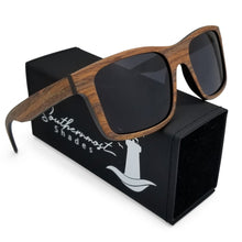 Load image into Gallery viewer, Brown Wood Flat Front Sunglasses with Dark Lenses - (54mm Lenses) Size Large - southernmostshades.com