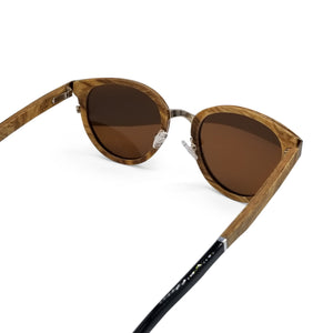 Burl Wood Round Frame Sunglasses- (50mm lenses) Size Small - southernmostshades.com