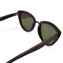 Load image into Gallery viewer, Cateye Sandalwood Frame Sunglasses- (53mm Lenses) Size Large - southernmostshades.com