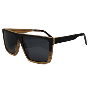 Dark & Zebra Wood Duo with Dark Lenses - (58 mm Lenses) Size Large - southernmostshades.com