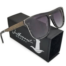 Load image into Gallery viewer, Hybrid Aviators with Walnut Arms & Gradient Lenses - (54 mm Lenses) Size Medium - southernmostshades.com