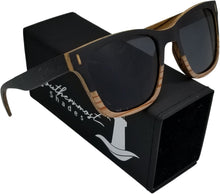 Load image into Gallery viewer, Zebra & Dark Wood Sunglasses - (52mm lenses) Size Medium - southernmostshades.com