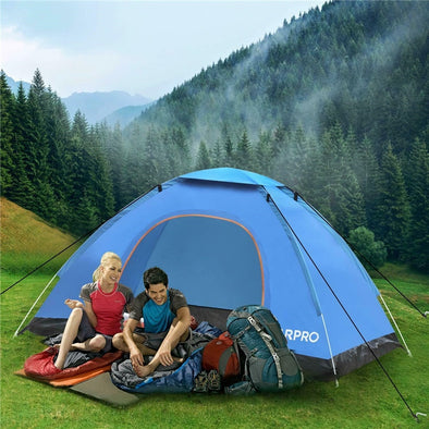 Automatisches Pop-Up Zelt Outdoor Familie Camping 3-4 Person - World of Camper