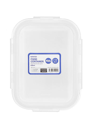 Miniso Rectangle High Borosilicate Glass Food Container 630ml 100041361