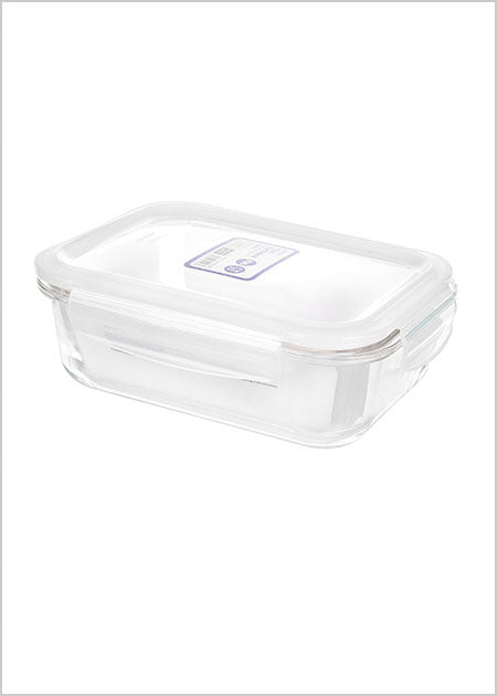 Miniso Rectangle High Borosilicate Glass Food Container 1040ml 100041371