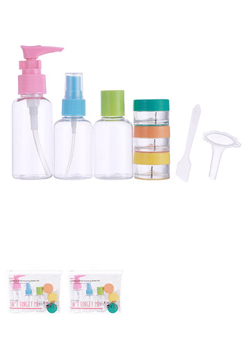 MINISO 8-PIECES COLORFUL TRAVELING BOTTLE SET 0200020921 TRAVEL KIT