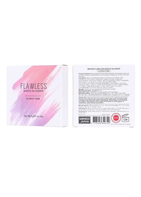 Miniso Miniso Flawless Baked Blusher(02 Rosy Pink) 200040861