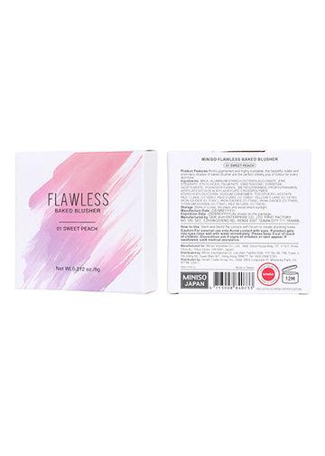 Miniso Miniso Flawless Baked Blusher(01 Sweet Peach) 200040862