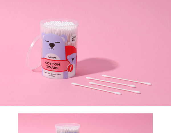 MINISO EXTRA SLIM COTTON SWAB FOR INFANT (200 PCS) 0200042751 COTTON SWABS