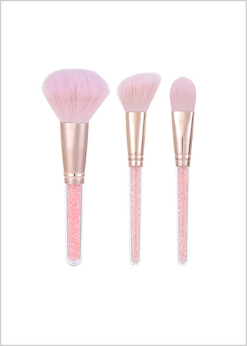 MINISO CRYSTAL MAKEUP BRUSH (3 PCS) 0200407621 MAKEUP BRUSH