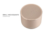 Miniso Portable Metal Wireless Speaker Model:BT120(Golden) 500006963