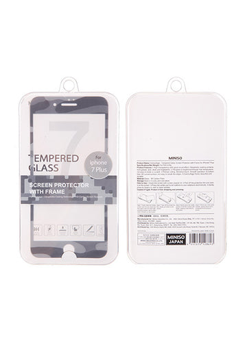 Miniso Camouflage - Tempered Glass Screen Protector with Frame for iPhone7 Plus 500018331