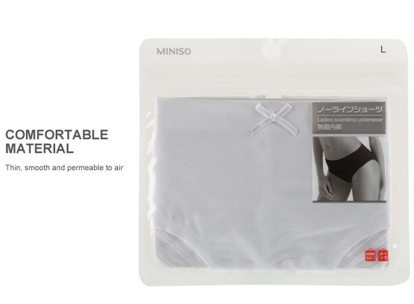 Miniso Lady's Seamless Briefs (White/L) 700033311