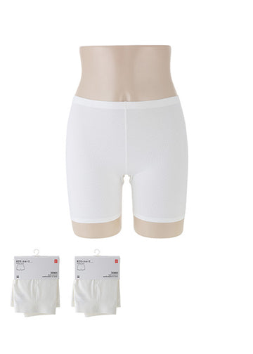 Miniso Solid Color Safety Pants(White S/M) 1000019382