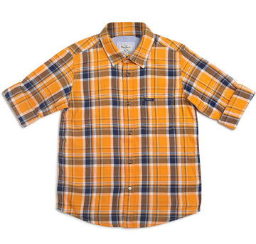 Pepe Jeans Liger Ls Ip PB302006 ORANGE Shirt Short Sleeve Young Boys