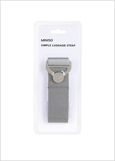 Miniso Simple Luggage Strap (Grey) 2006889611106