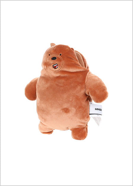 Miniso We Bare Bears-Plush Crossbody Bag(Grizz) 2006930410108