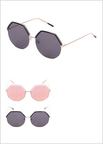 Miniso Women's Polygon Fashionable Sunglasses 2006960610103