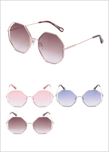 Miniso Women's Polygon Large Frame Sunglasses 2006961410108