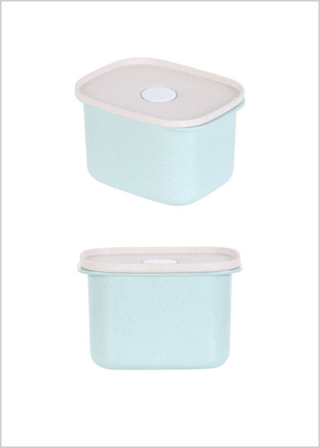 Miniso Wheat Food Container 400ml (Green) 2007005511102