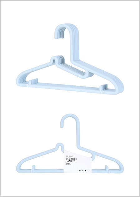 Miniso Children's Clothes Hanger 6 Pack (Blue) 2007026511105