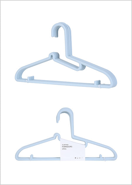 Miniso Adults Clothes Hanger 5 Pack (Blue) 2007026611102