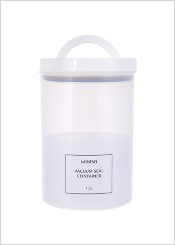 MINISO SIMPLE PP VACUUM SEAL CONTAINER 1.5L 2007105910102 STORAGE JAR